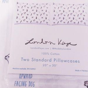 """London Kaye Bedding - New  """"London Kaye"""" Doggie Yoga Pillowcase Set"""